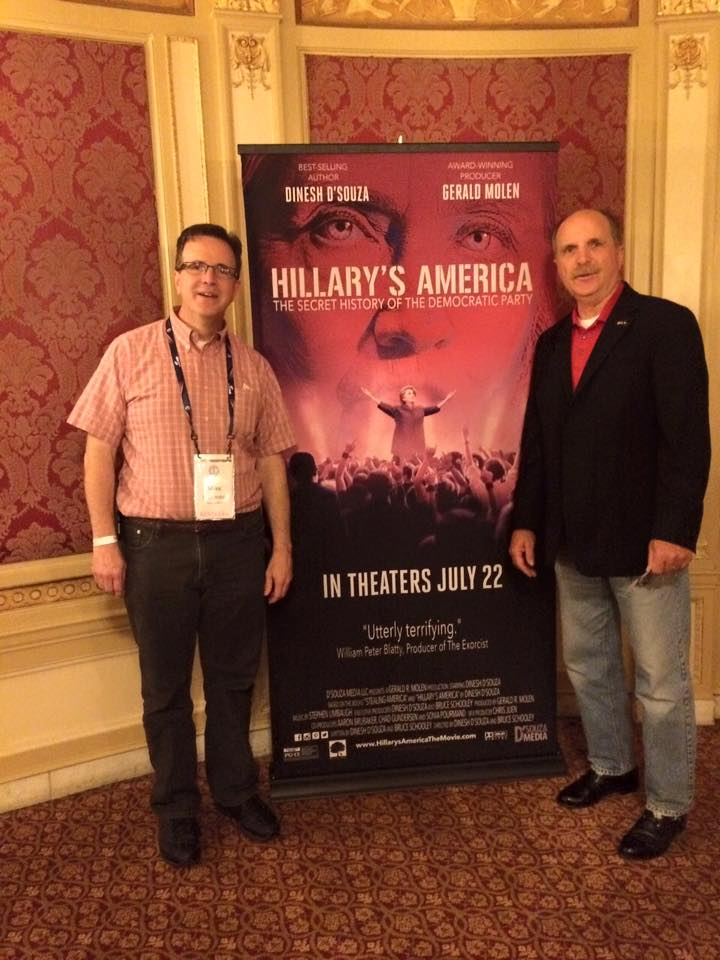 """Mike and Tom hit the ground running and attend a showing of """"Hillary's America."""""""