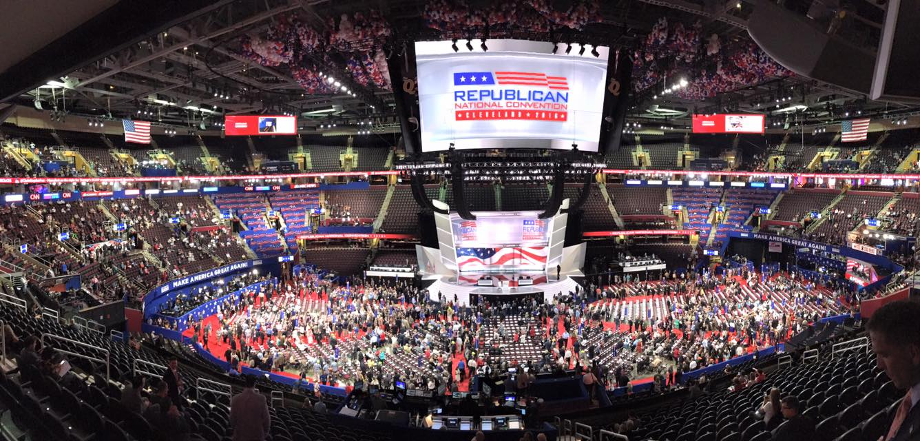 View from Senator Mitch McConnell's skybox