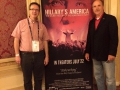 "Mike and Tom hit the ground running and attend a showing of ""Hillary's America."""