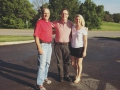 Pit stop on the drive to Cleveland! Tom Tye, State Auditor Mike Harmon, and McKenzee Weddle Frazier (representing 5th Congressional District)