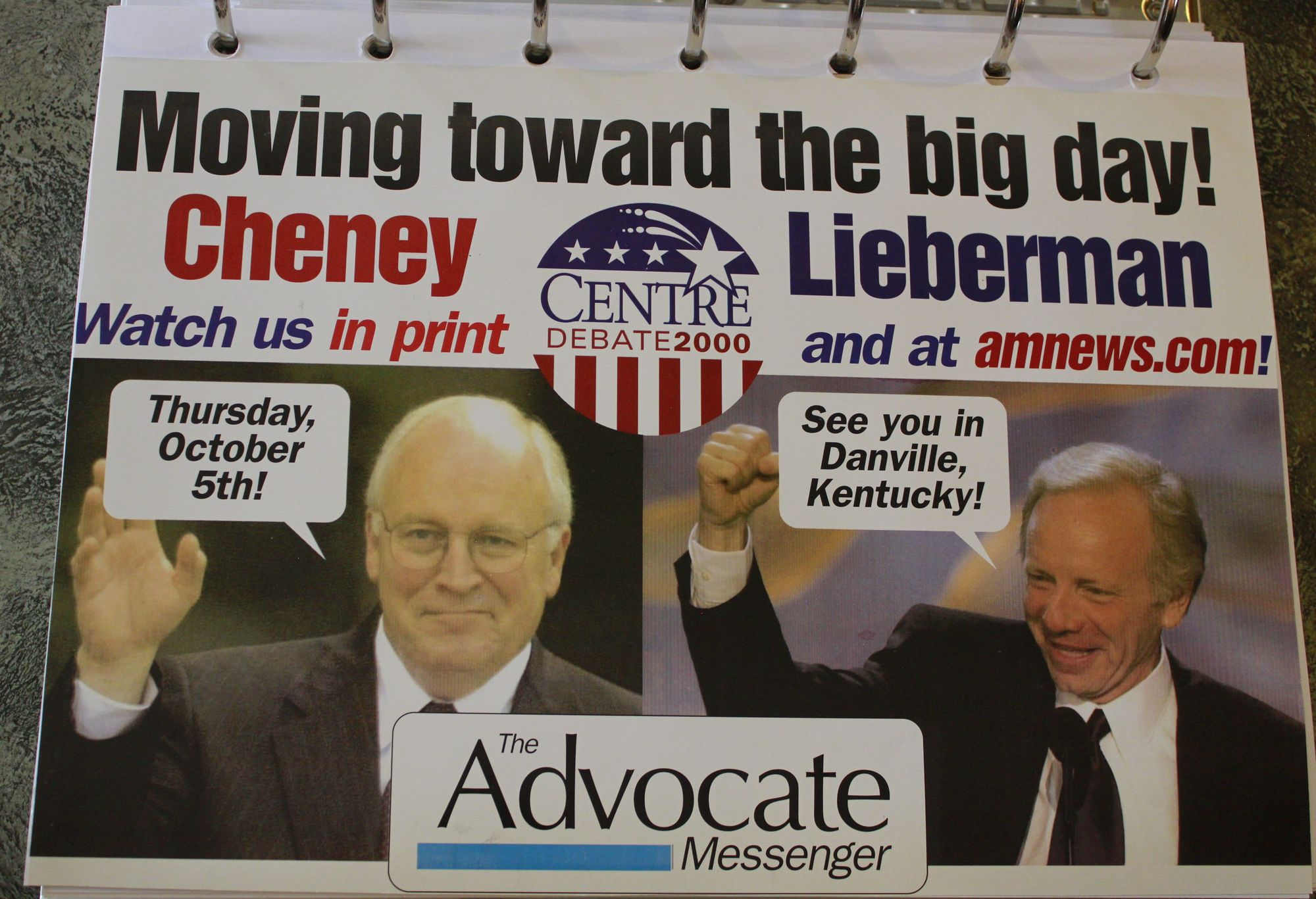 a summary of dick cheney and joseph liebermans vice presidential debate Bob's links and rants the main person claiming these two incidents as successes for them has been dick cheney the vice president's wife, and sen joseph.