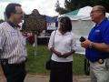 Jenean Hampton in Danville with Mike Harmon at Constitution Square