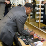 Ben Carson Signing Posters in the Green Room