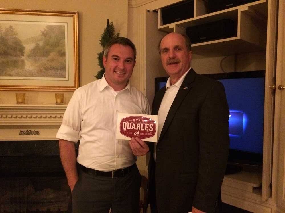 Ryan Quarles for Ag Commissioner and Tom Tye Chair of the Boyle County Republican Party