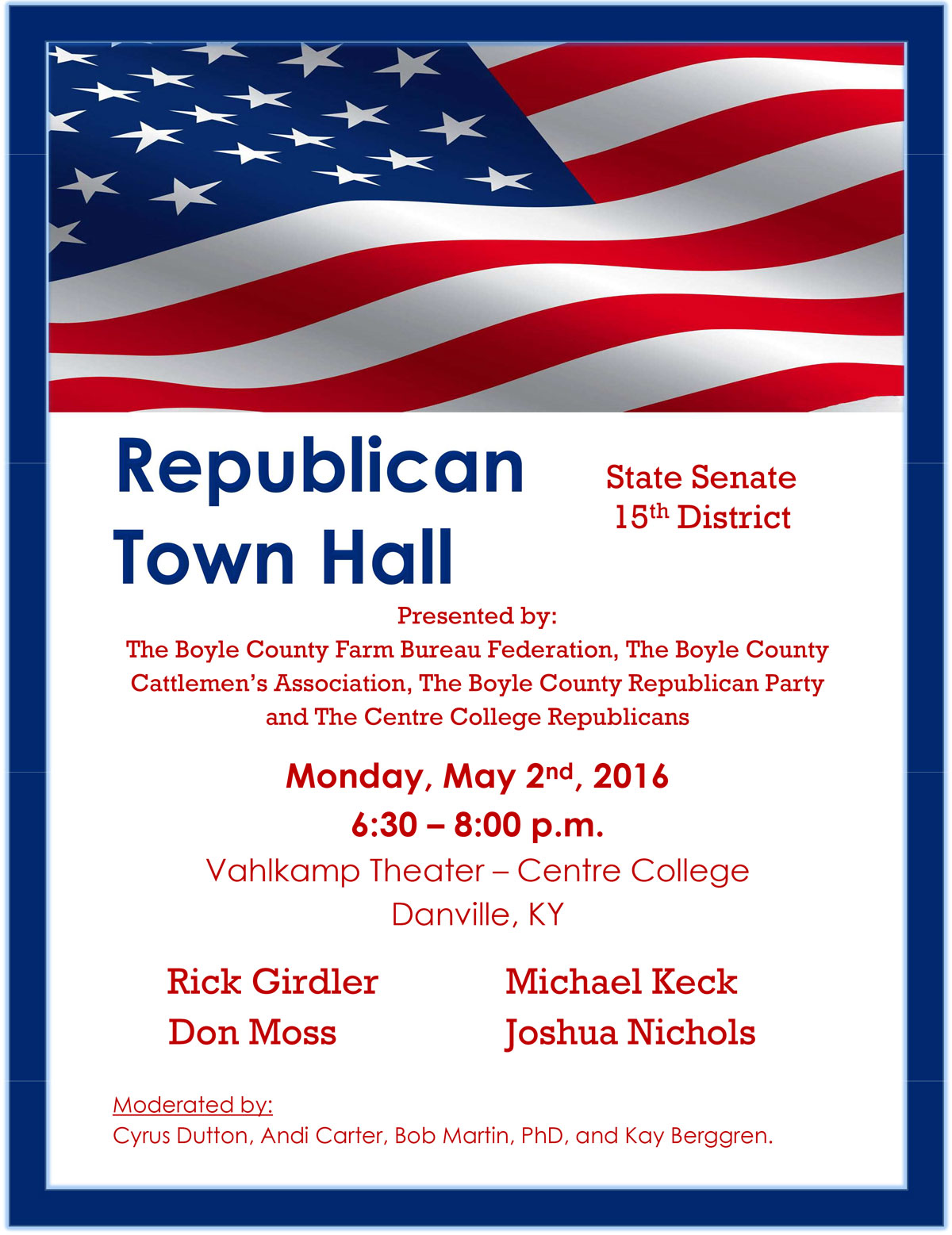 Republican Town Hall in Danville KY May 2 2016
