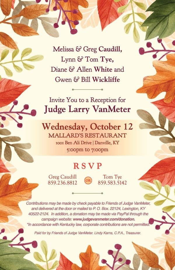 Judge VanMeter Reception