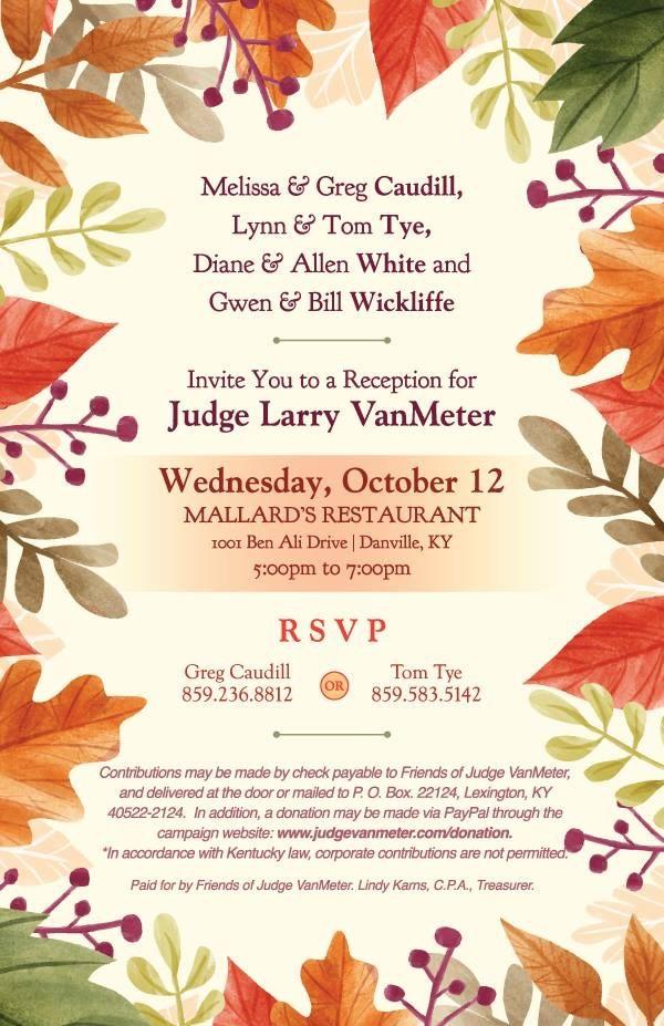 Judge VanMeter Reception