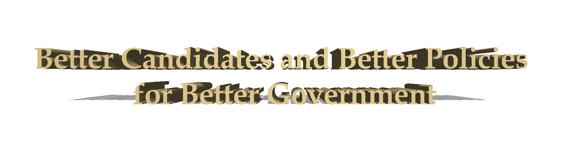 Better Policies Candidates Government