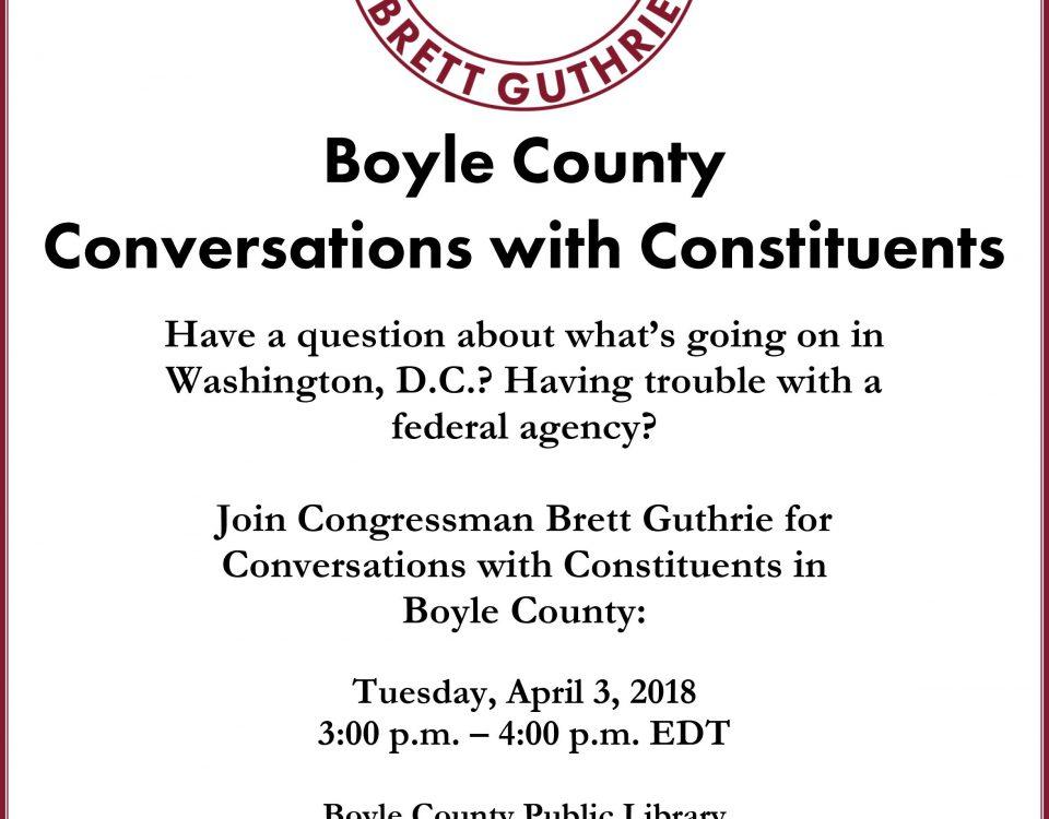 Brett Guthrie in Boyle County