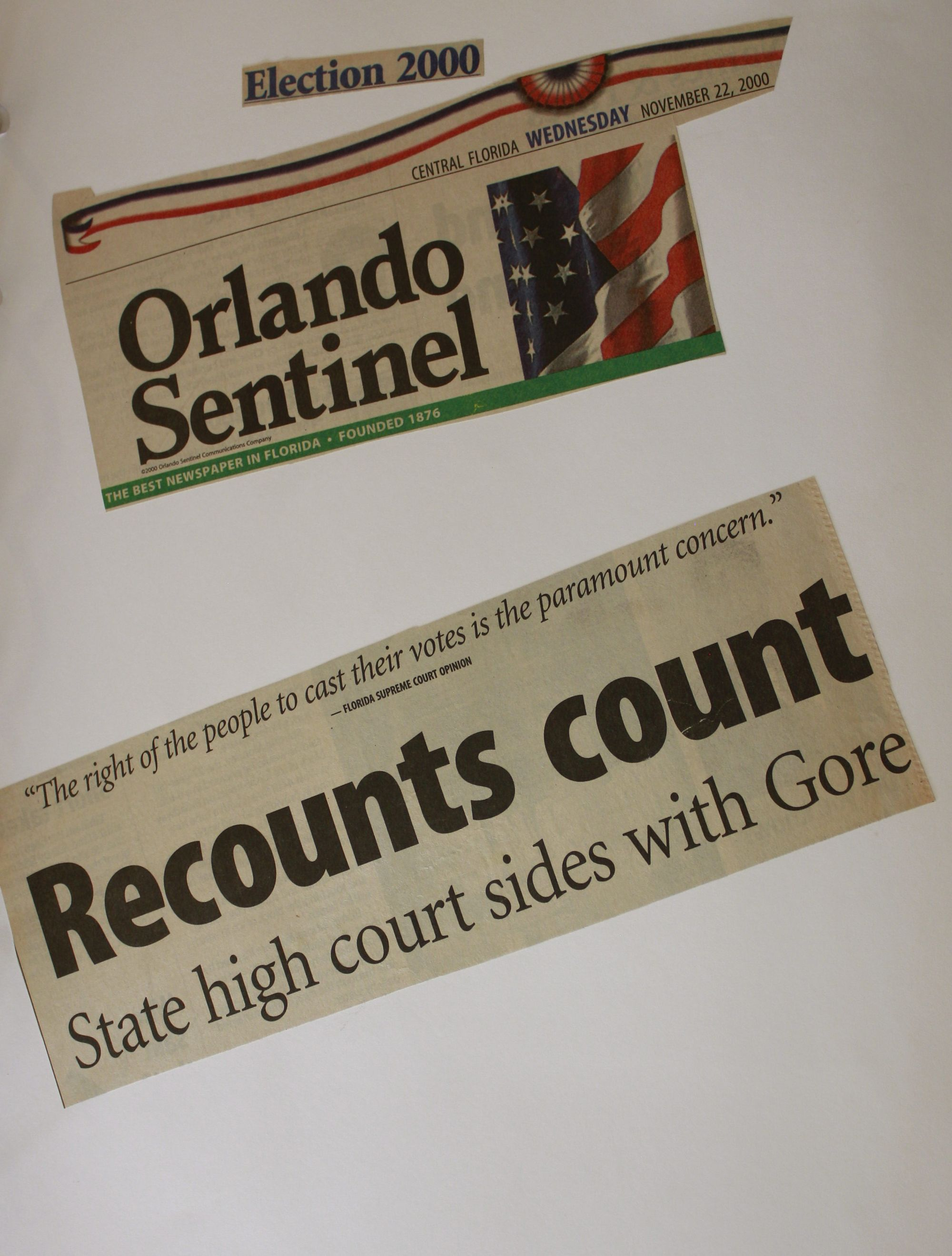 Florida Recount 2000 Election