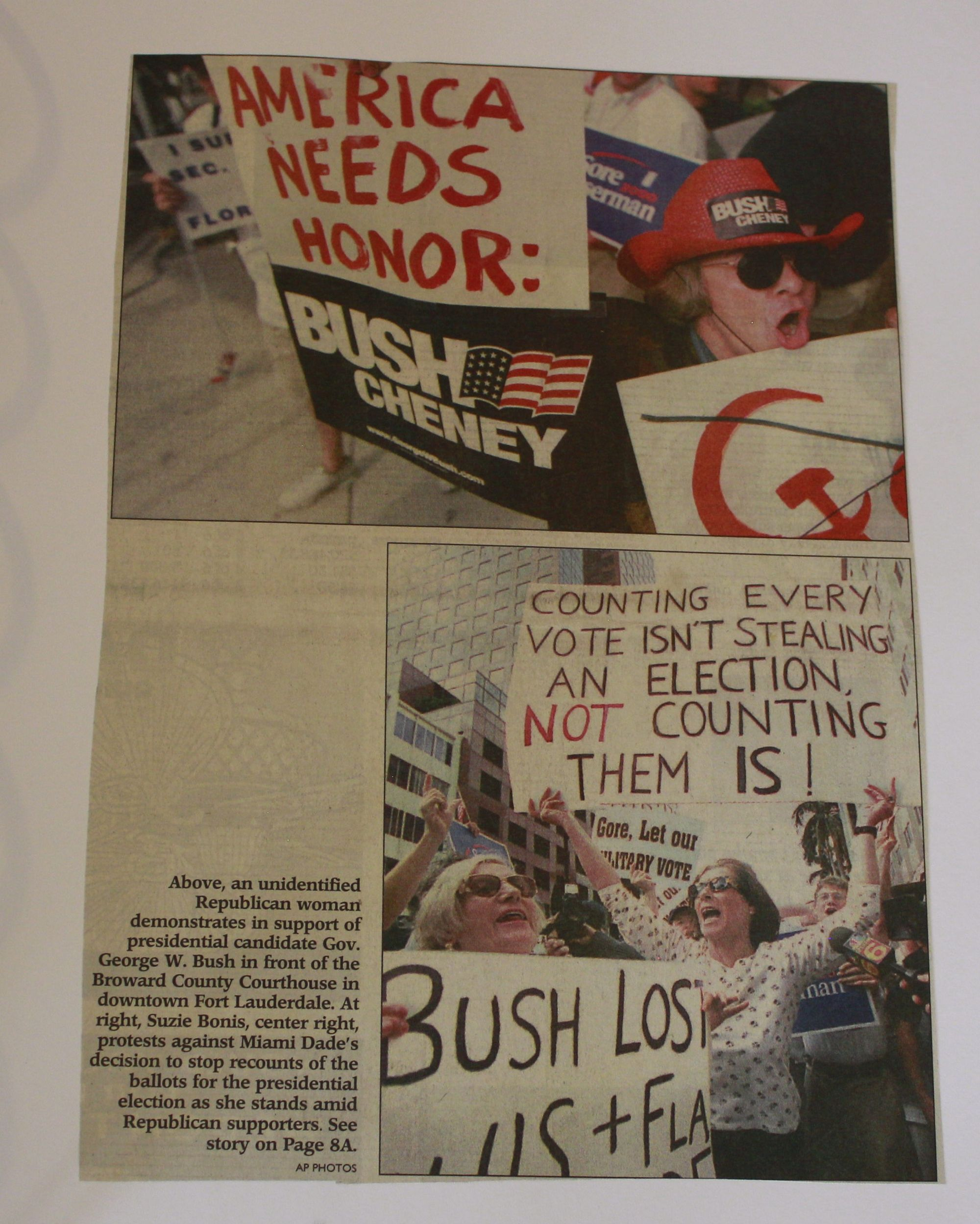 Newspaper, Recount 2000