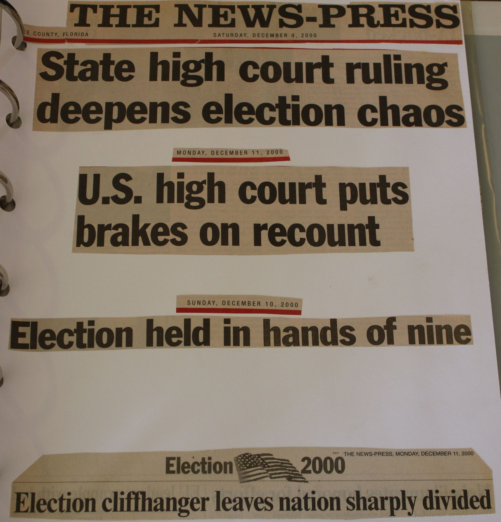 Supreme Court Recount 2000