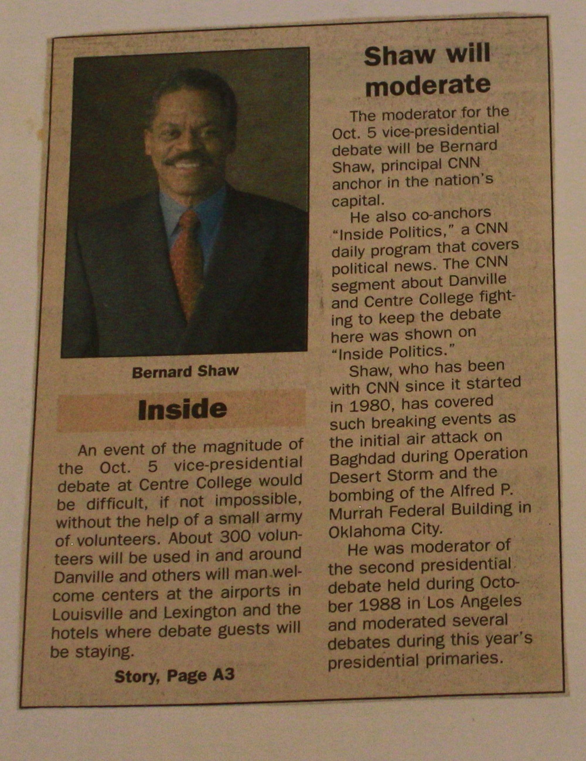 Centre College VP Debate 2000