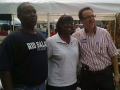Jenean Hampton in Danville with Mike Harmon