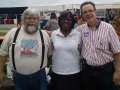 Jenean Hampton in Danville with Steve Knight