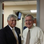 4th District Magistrate Candidate Allan Crain with Senator Mitch McConnell