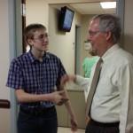 Joseph Warta of Boyle County Meets Senator Mitch McConnell