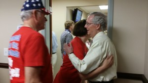 Senator Mitch McConnell and avid supporters in Boyle County, KY