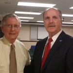 Senator Mitch McConnell and Tom Tye, Chair of the Boyle County Republican Party