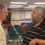 Steve Knight of DanvilleComputerDoc, talks to Senator Mitch McConnell
