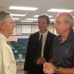 Tom McClain, Representative Mike Harmon and Senator Mitch McConnell in Boyle County, Kentucky