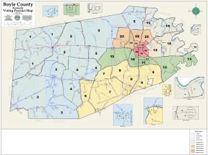 Boyle County Kentucky Precinct Map