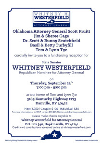 Whitney Westerfield for Attorney General Fundraiser in Boyle County