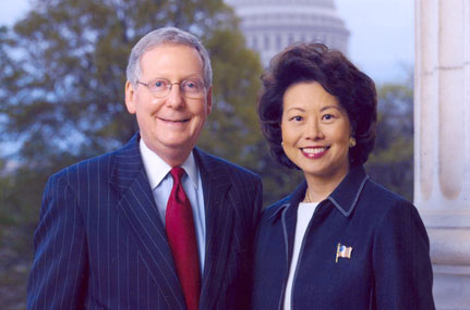 Elaine Chao and Husband, Mitch McConnell.