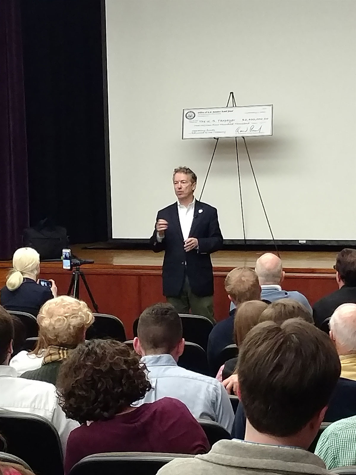 Senator Rand Paul Holds Town Hall Meeting in Danville Kentucky