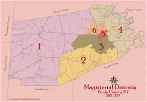 Magisterial Districts in Boyle County Kentucky