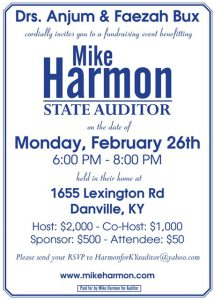Mike Harmon for Auditor of Kentucky